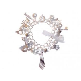 50 Shades of Grey Themed Charm Bracelet