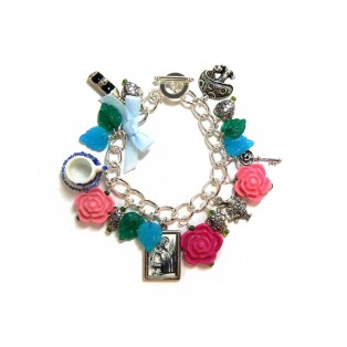 Alice in Wonderland Themed Charm Bracelet