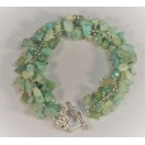 Natural Amazonite Hand Stitched Bracelet