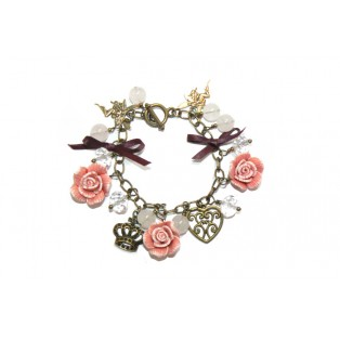 Antique-Style Gold Plated Rose Garden Bracelet