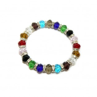 Stylish Multicoloured Crystal Beaded Bracelet