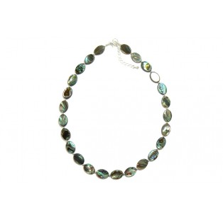 Paua Shell Necklace - Oval Beads
