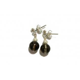 Brown Smoky Quartz Drop Earrings