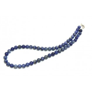 Blue Beaded Sodalite Necklace
