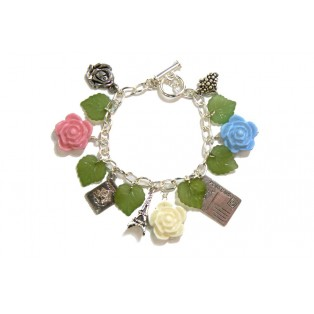 'Spring-time in Paris' Themed Charm Bracelet