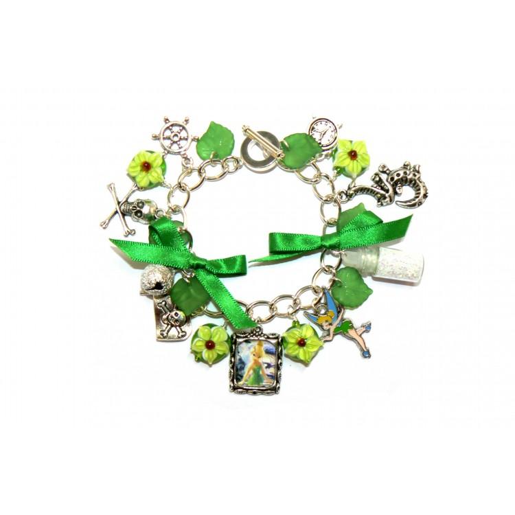 Tinkerbell Charm Bracelet: Tinkerbell Themed Charm Bracelet