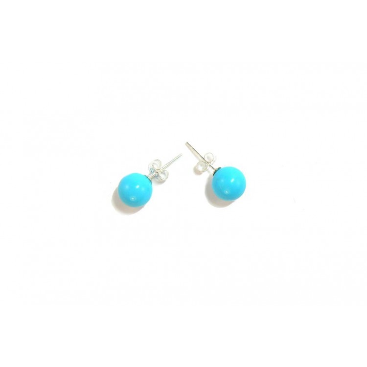 small blue azure earrings by and moose products resin stud kate