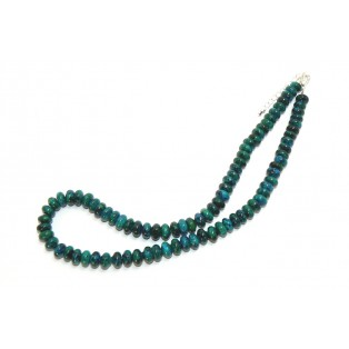 Vibrant Green/Blue Chrysocolla Beaded Necklace