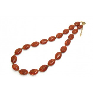 Classic Red Sponge Coral Beaded Necklace