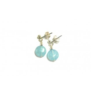 Blue Aquamarine Drop Earrings