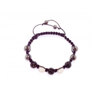 Black and White Shamballa Bracelet