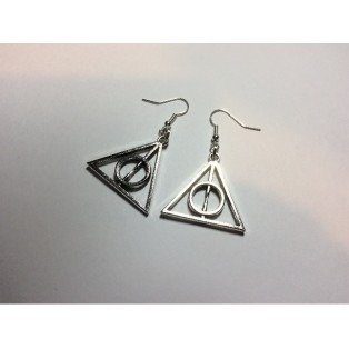 Harry Potter Deathly Hallows Triangle Earrings