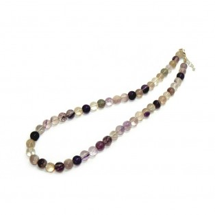 Classic Purple and Green Fluorite Beaded Necklace