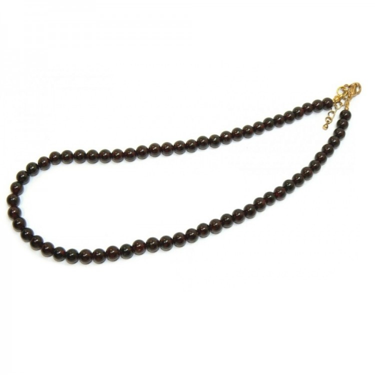 stunning garnet beaded necklace