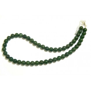 Dark Green Jade Beaded Necklace