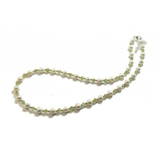 Peridot and Freshwater Pearl Necklace