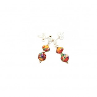 Multicoloured Drop Calsilica Earrings