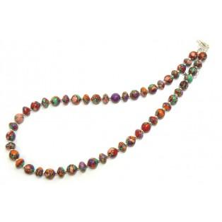 Multicoloured Beaded Calsilica Necklace