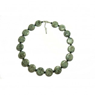 Pale Green Sesame Jasper Beaded Necklace