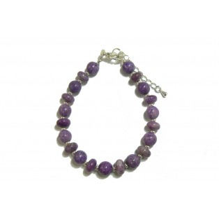 Purple Beaded Sugilite Bracelet