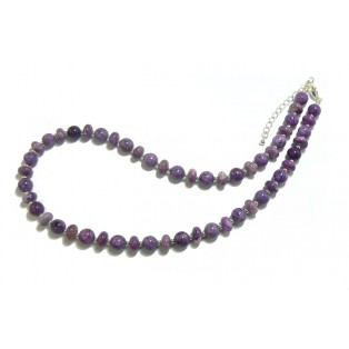 Vibrant Purple Beaded Sugilite Necklace