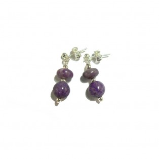 Beautiful Purple Sugilite Drop Earrings
