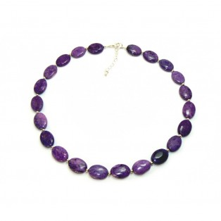 Purple Beaded Sugilite Necklace
