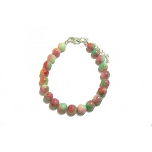 Pretty Watermelon Green Jade Bracelet