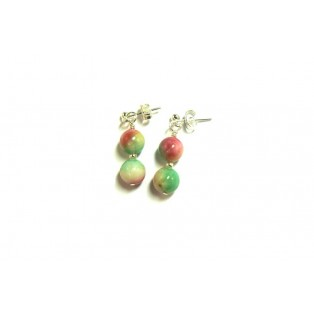 Pretty Watermelon Green Jade Drop Earrings